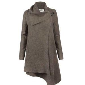 Allsaints Wool Lendra Coat Jacket Drape Front